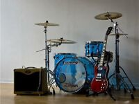1970s vintage ludwig vistalite drums for sale (Blue)