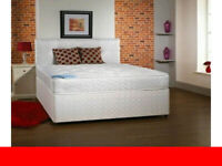 Divan Bed in Black White and Grey Color With Storage Drawers and Headboard