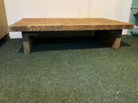 Low Rustic Chunky Pine Coffee Table