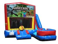 Minecraft Bouncy Castle Bounce House W/slide For Rent $270/Day