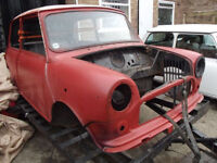 MINI SHELL IN GOOD CONDITION WITH DOORS AND LOG BOOK ROAD RACE AUTOGRASS RALLY MINISTOX