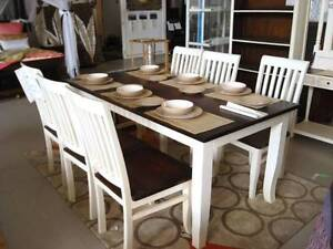 NEW SHABBY CHIC 7 Pce DINING SUITE NOW $799  (see all photos) Burleigh Heads Gold Coast South Preview