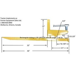 clamp to bucket PALLET FORKS, 2 sizes available, FREE SHIPPING Moose Jaw Regina Area image 5