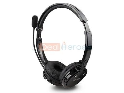 Over the Head Boom Mic Bluetooth Wireless Stereo Headset Cell Phones iPhone PC
