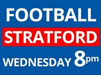 Anyone available to play football today 8pm at Stratford? We need players!