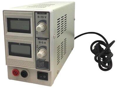 Velleman Dc Lab Power Supply 0-15 Vdc0-3 A Max Wdual Lcd Display Labps1503u