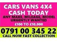 07910034522 SELL MY CAR 4X4 FOR CASH BUY YOUR SCRAP NON RUNNER V