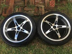 "Commodore Wheels with Semi Slicks - Holden Chev Race Tyre Rim 18"" Gladesville Ryde Area Preview"