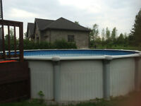 24 Ft. Round Above Ground Pool - Excellent Condition