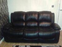 Black Three Seater Sofa Settee