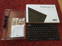 Anker Ultra Slim Bluetooth Keyboard compatible with iPhone, Android, Google devices.