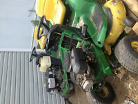 2 John Deere Lawn Tractors -Parting out only