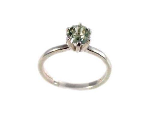 Green Amethyst Ring ¾ Antique 19thC Poland Gem of Ancient Celtic Roman Warriors