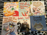 "**4 ""WAS AN OLD LADY"", 1 ""SPLAT THE CAT"" & 1 SCAREDY SQUIRREL**"