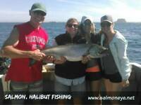 Book now for Summer 2019 Halibut and Salmon Fishing