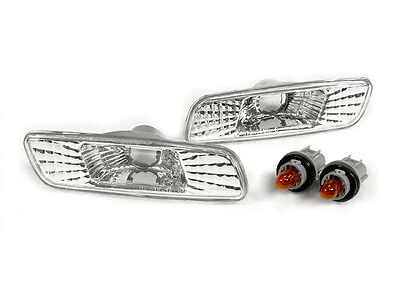 DEPO Chrome Crystal Clear Front Bumper Side Marker Lights for 00-05 Lexus IS300