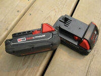 Milwaukee M18 Red Lithium Batteries