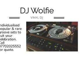 Vinyl DJ available Call DJ Wolfie