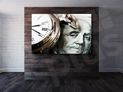 Time is Money Watch Art Canvas Poster Print Home Wall Decor