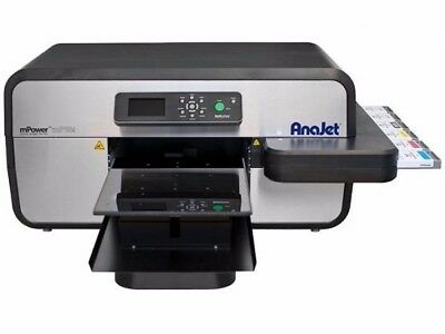 Anajet Mpower Mp10i Apparel Printer Dtg Direct To Garment W All New Printheads