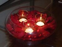 Shallow glass bowls