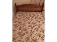 4ft wide small double pine bed-Free delivery