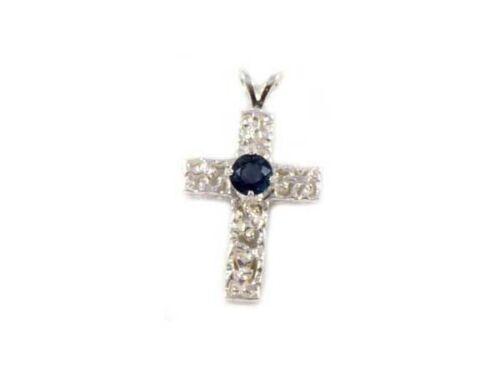 Blue Sapphire Cross Pendant Medieval Ecclesiastic Heaven Pope Gem Antique 19thC