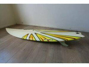~ RARE ~ Circa 2005 Surf Board Mt Woodgee 6-Foot Art Piece Design Ian Kew Boroondara Area Preview