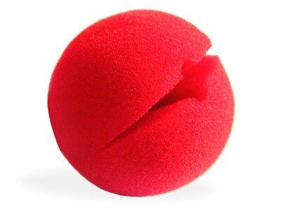 Clown-Nase Rot Nasen Karneval Red Nose Fasching Schaumgummi Schaumstoff-Nase NEU