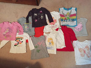 Assortment of girl's size 3 t-shirts