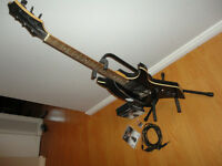 Rocksmith PS3 game with guitar, stand, cable, strap, picks