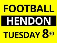 Friendly group looking for extra players to play football every Tuesday night at Hendon