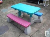 Fisher Price picnic table in great condition