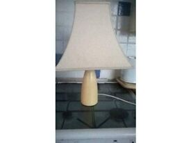 Cream table lamp £5.00