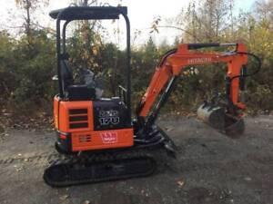 2017 Hitachi ZX17U Mini Excavator, only 98 hours