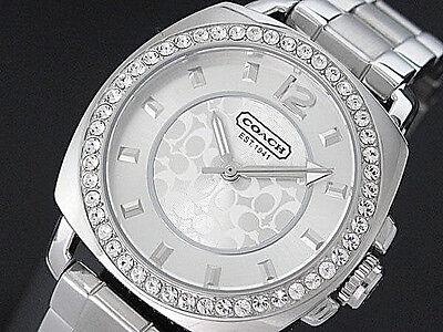 NWT Coach Women's Watch Silver SS Bracelet & Glitz Mini BOYFRIEND 14501699 $250