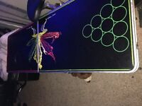 Glow/Neon Beer Pong Table Used Once!