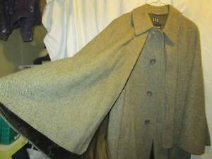 Authentic Wool Inverness Cape (Sherlock Holmes)