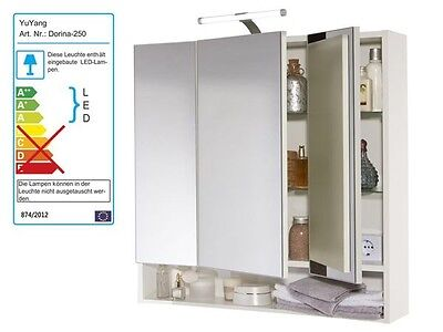 "Spiegelschrank, Badezimmer Schrank, LED Beleuchtung 3 Türen""wie Allibert"""