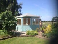 8ft x 8ft corner summerhouse/ shed/ office