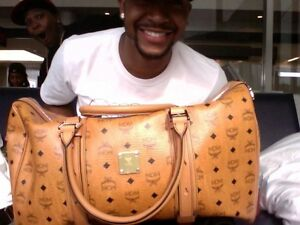 Brand New Big MCM Travel Duffle Money Leather Bag - 1250$