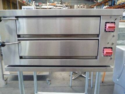 COMMERCIAL ELECTRIC TWIN DECK PIZZA OVEN