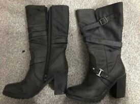 Various ladies used boots size 5