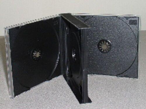 4 NEW 24MM CHUBBY TRIPLE 3 CD JEWEL CASES W BLACK TRAY 3CD FREE 2 DAY AIR SHIP