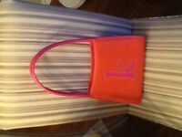 Monogrammed leather purse