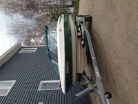 1996 cutter 18ft inboard/outboard 3Liter boat and trailer