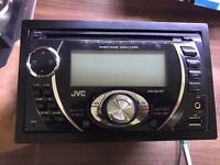 JVC KW XG701 double din stereo with front usb and aux port