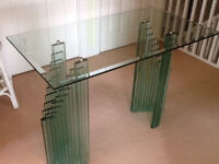 ART DECO STYLE GLASS TABLE. AND TOP QUALITY AND EXTREMLY STYLISH!