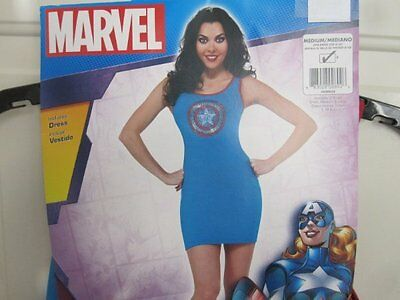 Marvel Captian America American Dream Tank Dress Costume Dress Up Medium 6 8 10