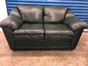 Green Leather LOVE SEAT  -  Delivery